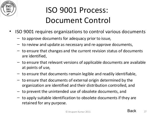 what is document control process