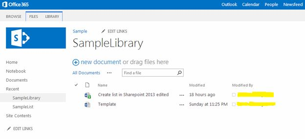 how to create a document library