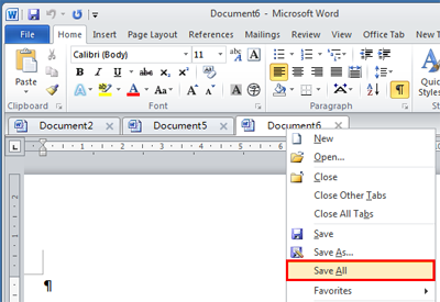 save word 2007 document as image