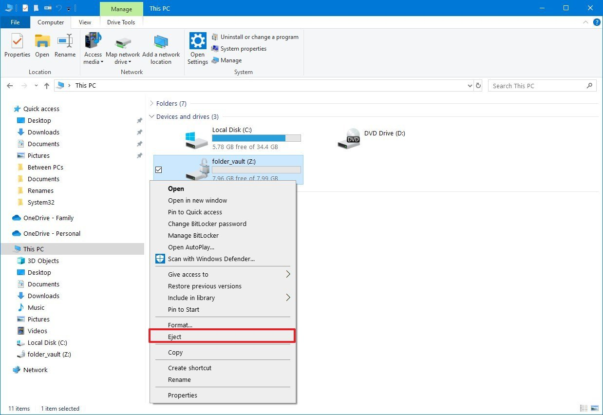 how to password protect a document in windows 10