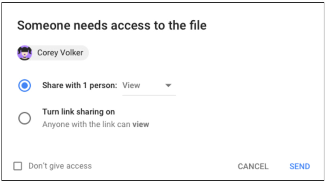 unable to access document google drive