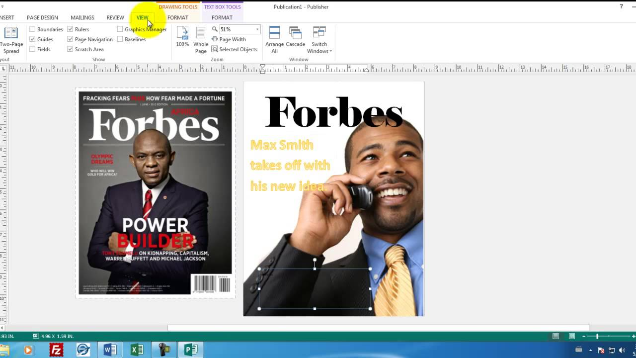 how to change publisher to word document