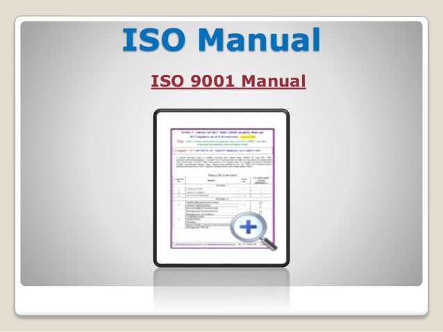 iso 9001 documentation template