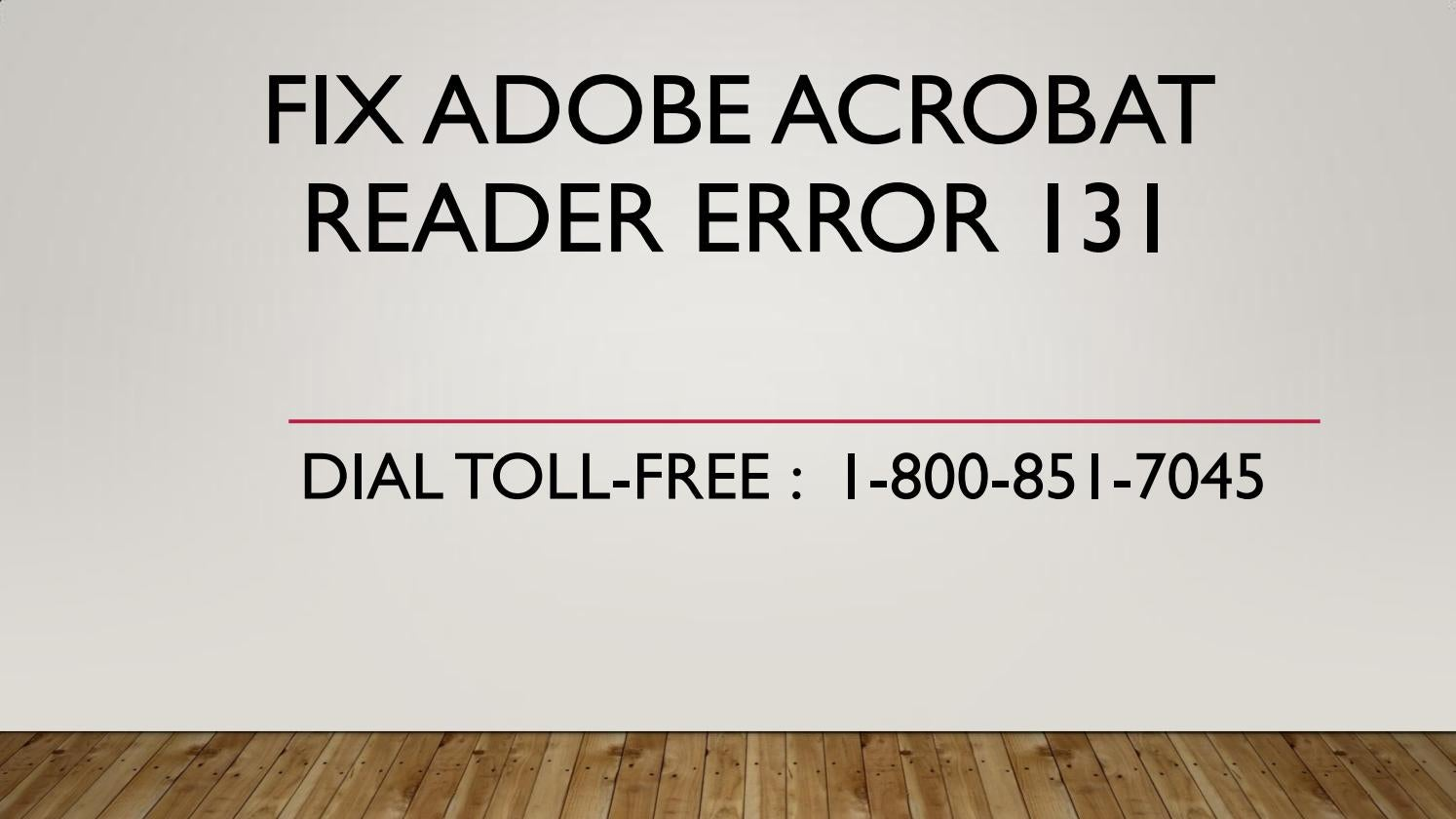 acrobat reader there was a problem reading this document 131