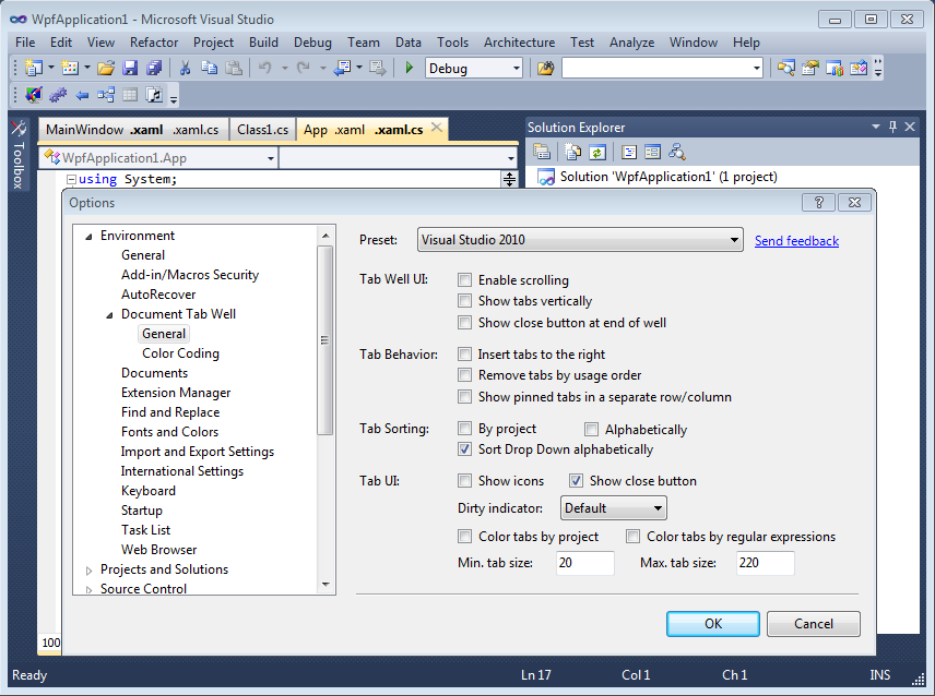 how to put tabs in word document