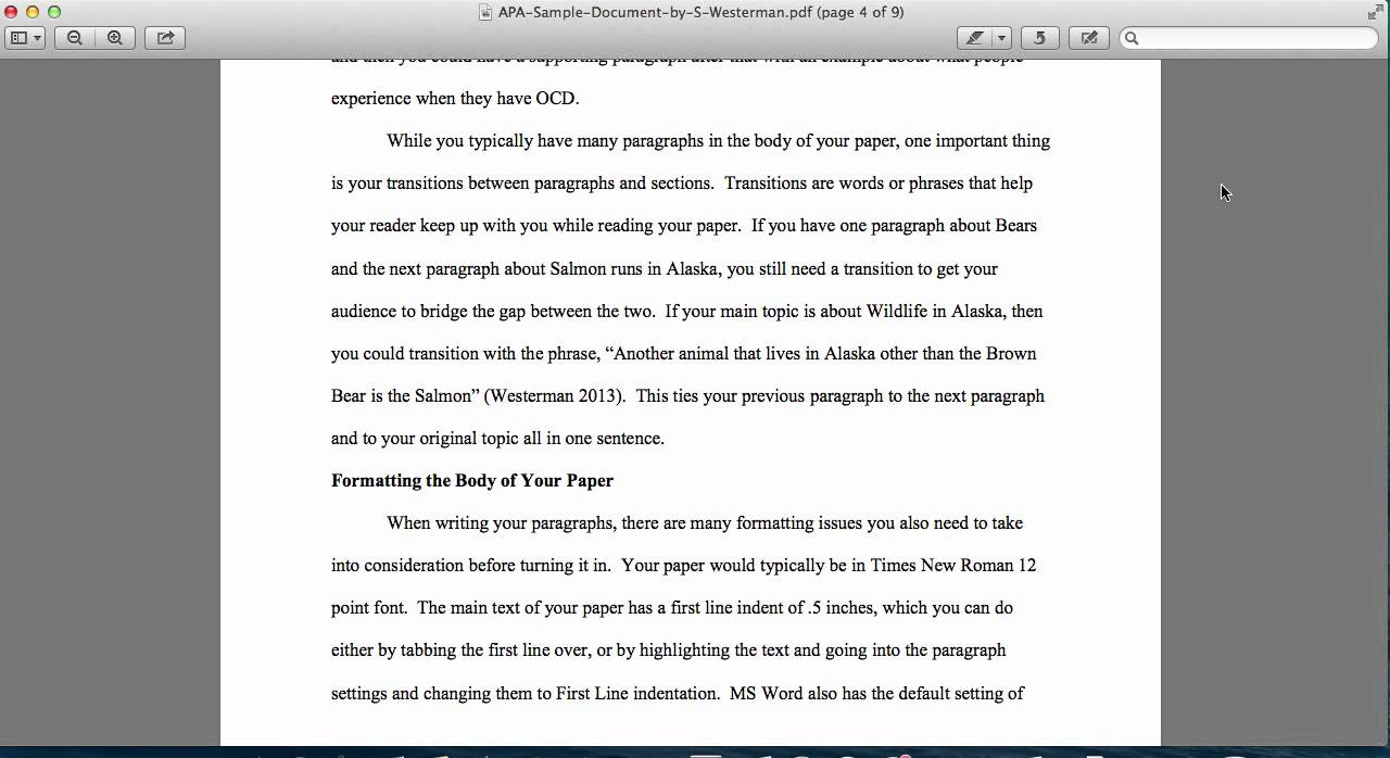 apa 6th edition how much spacing in document