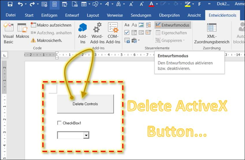 change creation date of word document