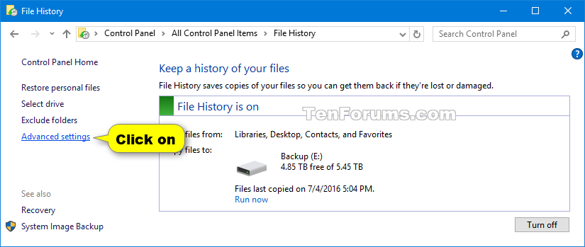 document history and version control table
