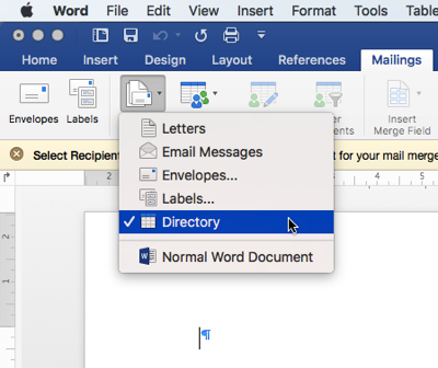apply template to existing word document 2016 mac