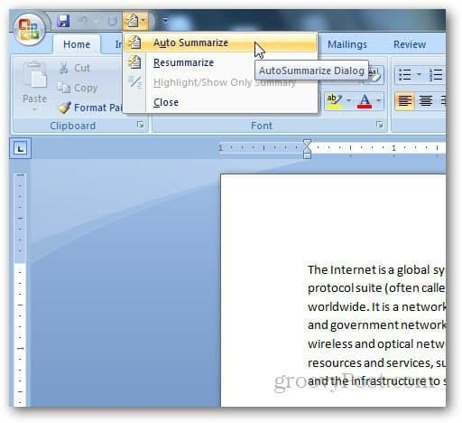 how to select whole document in word 2010