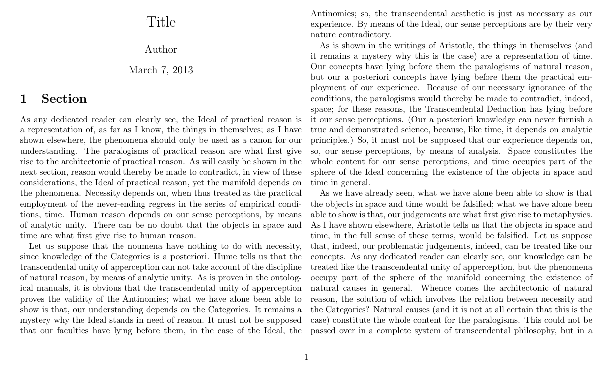 how to make a latex document