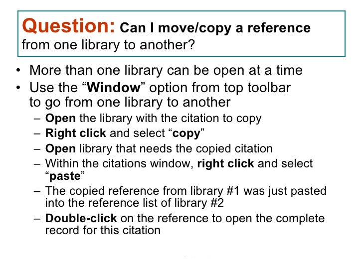 copy endnote references from one document to another