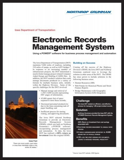 electronic document records management system
