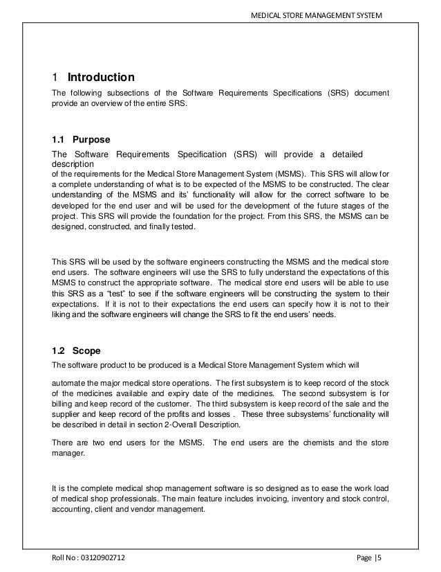 what is the purpose of a functional specification document