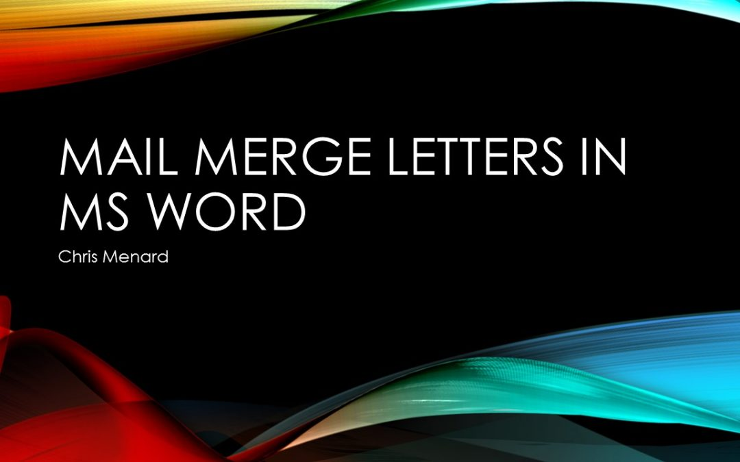 how to do mail merge on existing word document 2016
