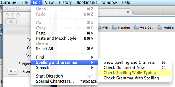 how to turn off autocorrect on mac in a document