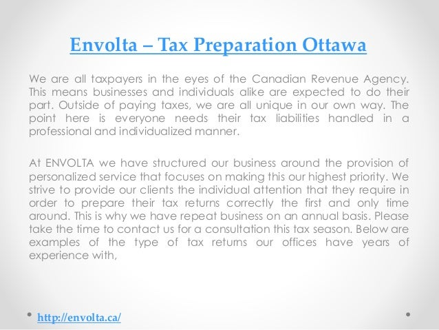 preparation of tax documentation for individual taxpayers