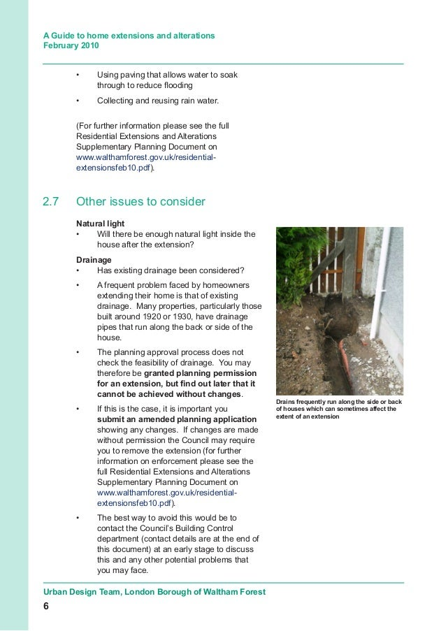 residential extensions and alterations supplementary planning document