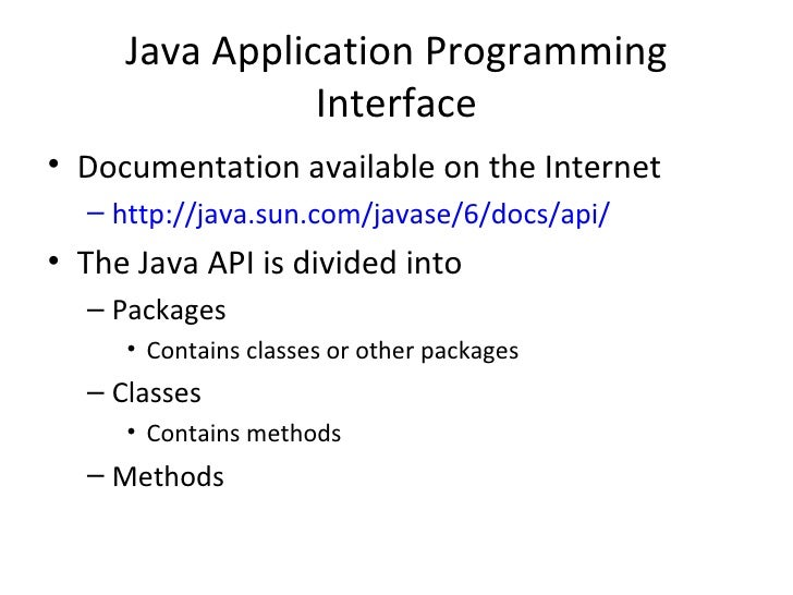 what is api documentation in java